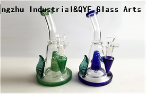 QYF09018---Pyrex Glass Bongs For Hemp Smoking