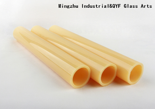 Jade Opaque Yellow (Lght Topaz) Coloreful Borosilicate Glass Tubing with COE33
