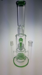 QYF2392--Percolator Glass Bongs for Dry Herbs and Oil