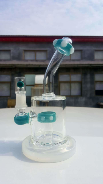 QYF2408-best selling glass bongs made by US colored rods