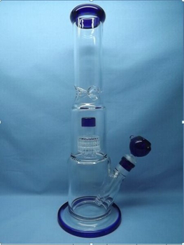 QYF2293-Pyrex Glass Bongs with Matrix Percolator