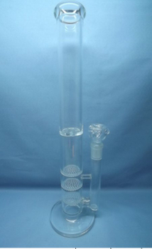 QYF2240-sand blasted glass water pipes with 4 arms tree percolator