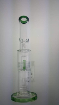 QYF2352-Double Matrix Percolator Pyrex Glass Smoking Water Pipes