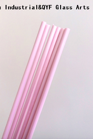 China TY Color Borosilicate3.3 Glass Rods-Milky Pink