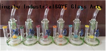 QYF12-Glass Smoking Water Pipes Made of US Imported COE 33 Color Rods