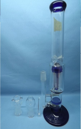 QYF2248-Best selling borosilicate glass bongs with honeycomb perc