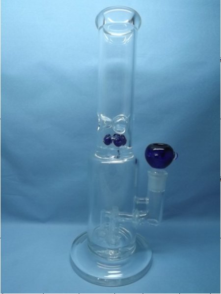 QYF2276-Pyrex Glass Water Pipes with Wind Chime Percolator