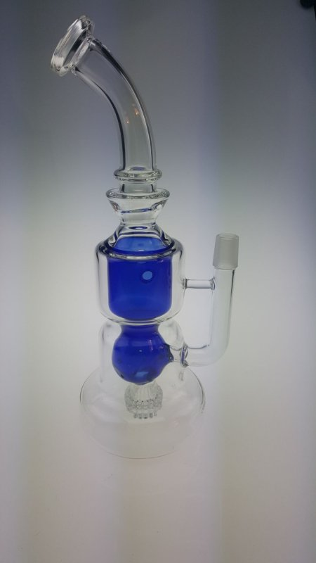 QYF2375-- Percolater Pyrex Glass Bongs