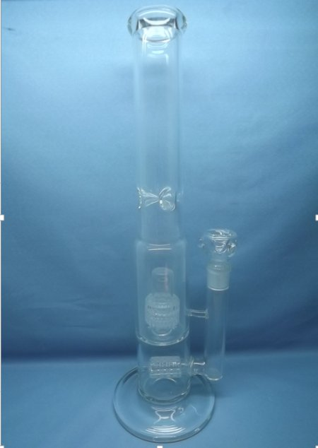 QYF2232-double matrix percolator glass water pipes