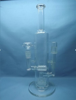 QYF2298-Pyrex Glass Bongs with Double Function