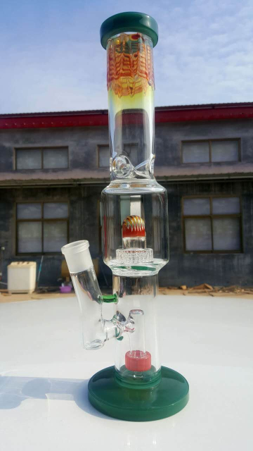 QYF2430-glass water pipes made by US imported Pyrex glass for dry herbs