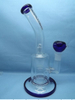 QYF2262-Percolated Pyrex Glass Bongs for Tobacco Smoking Use