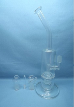 QYF2250-hand blown COE33 smoking water pipes glass